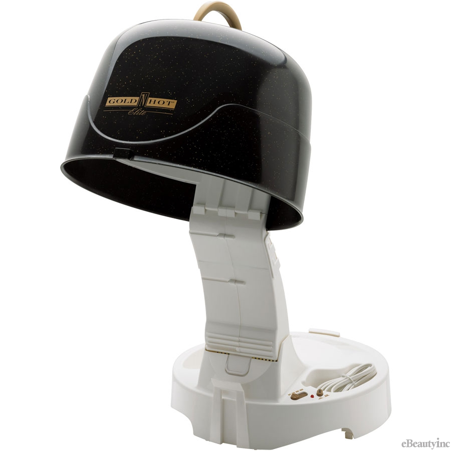 Hair Dryer Hood ~ Gold n hot ionic anti static w salon hard bonnet
