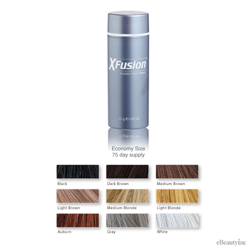 Xfusion Keratin Hair Building Fibers Hair Colors