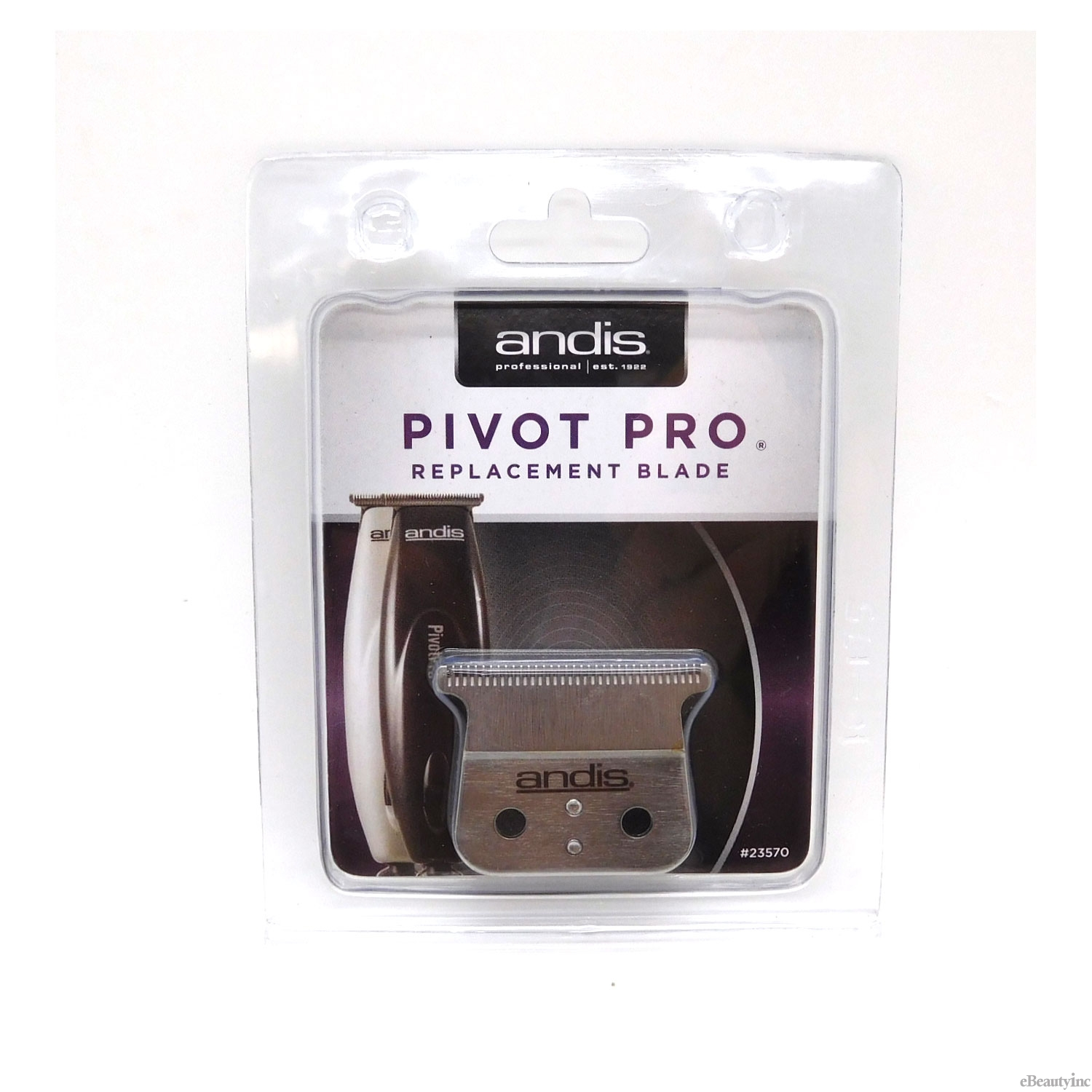 Image of Andis Pivot Pro Trimmer Stainless-Steel T-Blade #23570