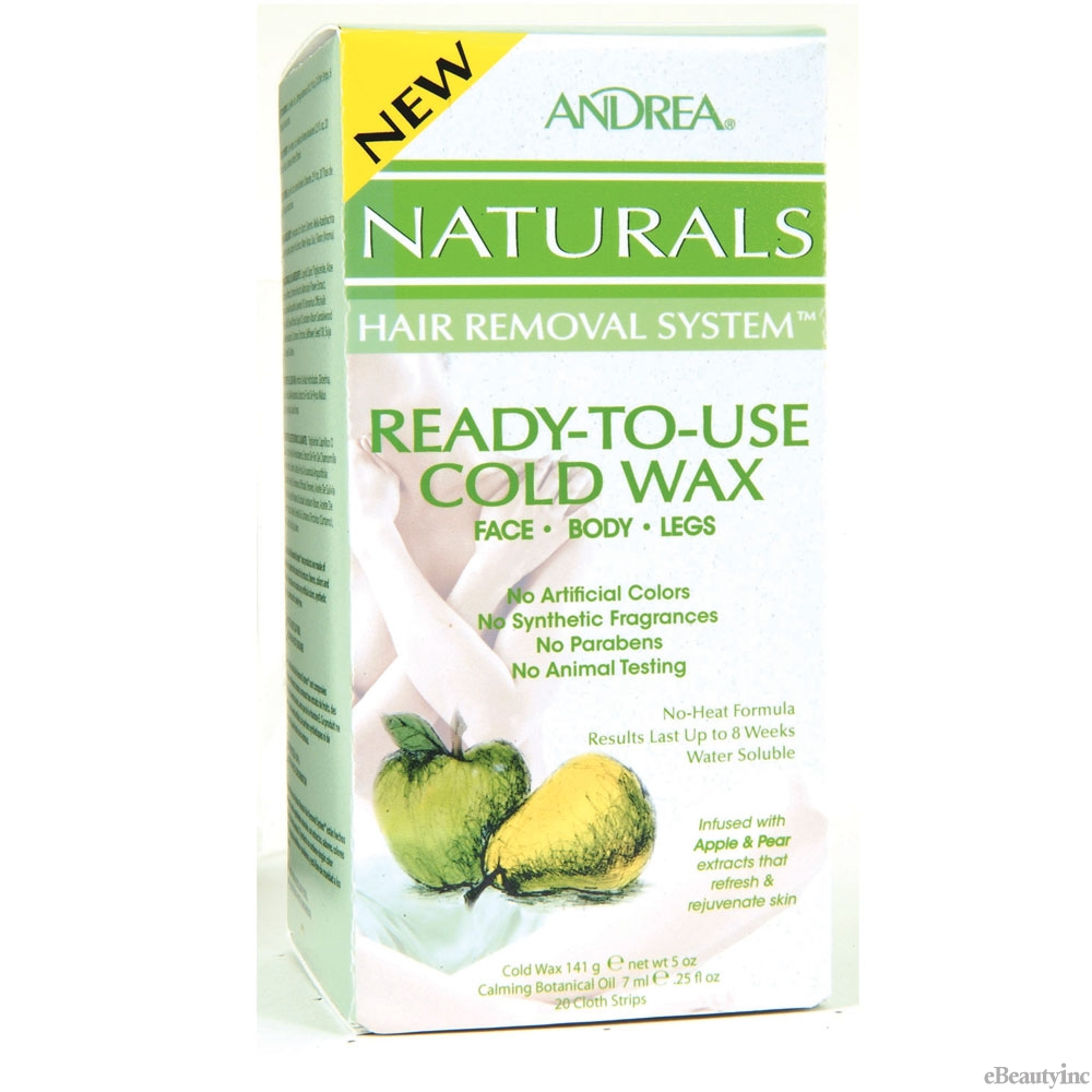 Image of Andrea Naturals Hair Removal System Ready-To-Use Cold Wax Face.Body.Legs Apple & Pear - 5 oz
