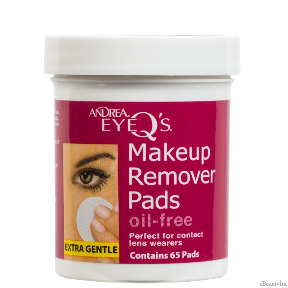 Image of Andrea Eye Q's Eye Makeup Oil-Free Remover Pads - 65 Pads