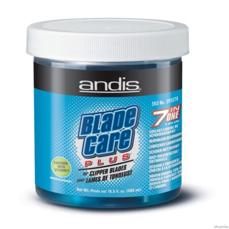 Andis Blade Care Plus 7-In-1 Vitamin E enriched Jar for Hair Stylists - 16oz