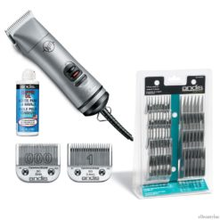 Andis BGRC Hair Clipper W/ 000+1 CeramicEdge Blade + Oil & Attachment Combs