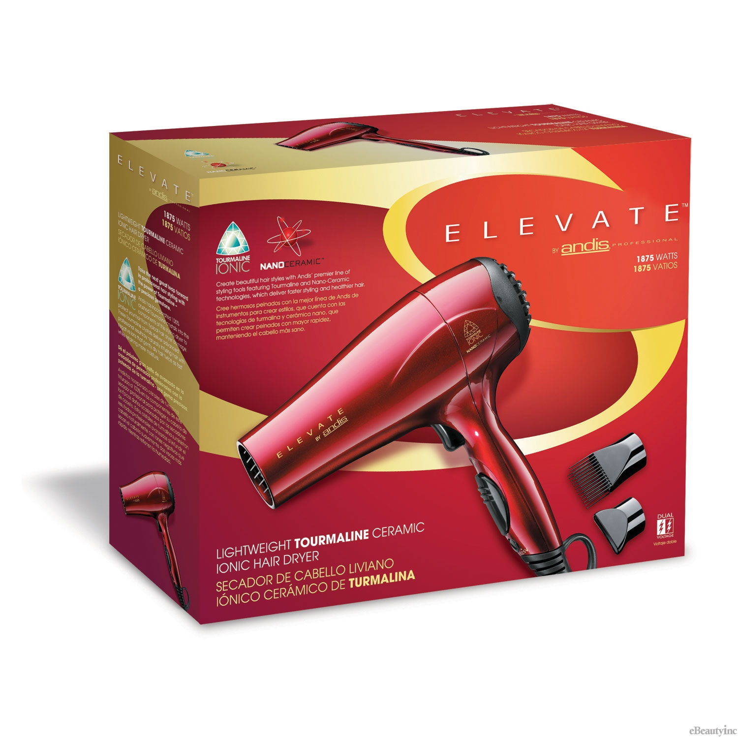 Image of Andis Elevate Lightweight Tourmaline Ceramic Hair Dryer #80405