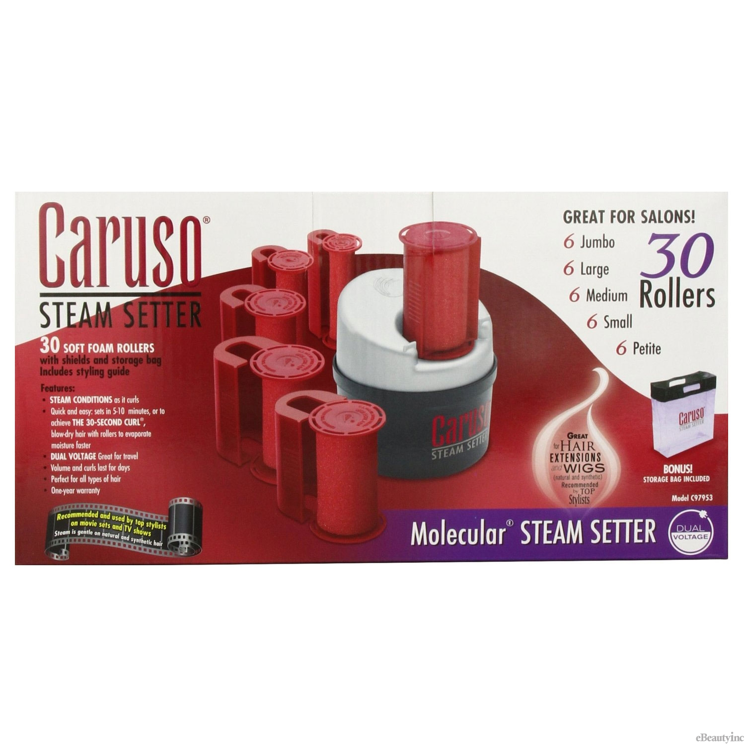 Image of Caruso Molecular Steam Hair Setter 30 Rollers #C97953