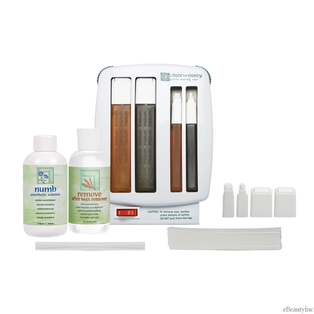 Image of Clean + Easy Petite Waxing Roller Hair Removal Spa Starter Kit