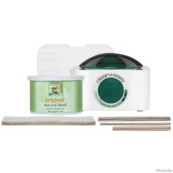 Clean + Easy Hair Removal Pot Warmer/Wax/Sticks Mini Kit