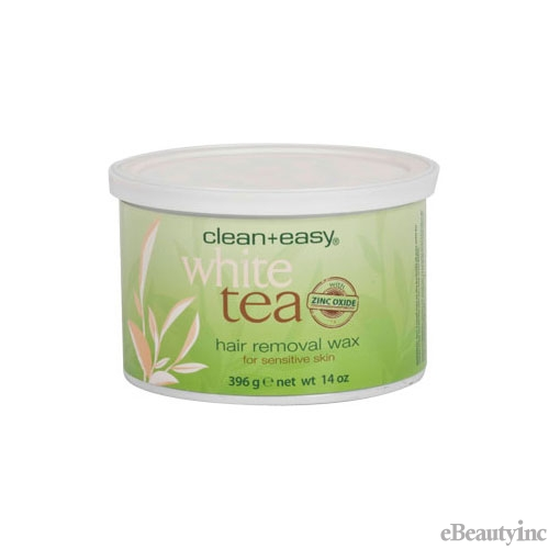 Image of Clean + Easy Hair Removal Wax White Tea with Zinc Oxide - 14 oz
