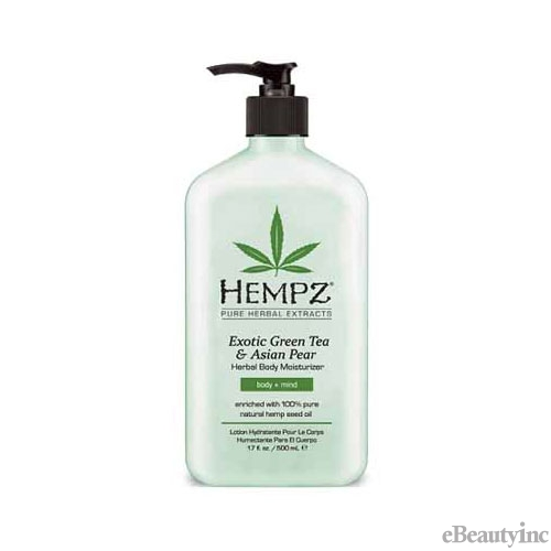 Image of Hempz Exotic Green Tea & Asian Pear Herbal Body Moisturizer lotion - 17oz