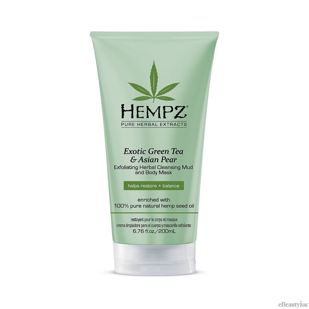 Image of Hempz Exotic Green Tea & Asian Pear Cleansing Mud and Body Mask - 6.76oz