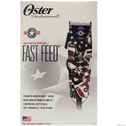 Oster Fast Feed US Flag Operation Homefront Hair Clipper with 4 Attachment Combs