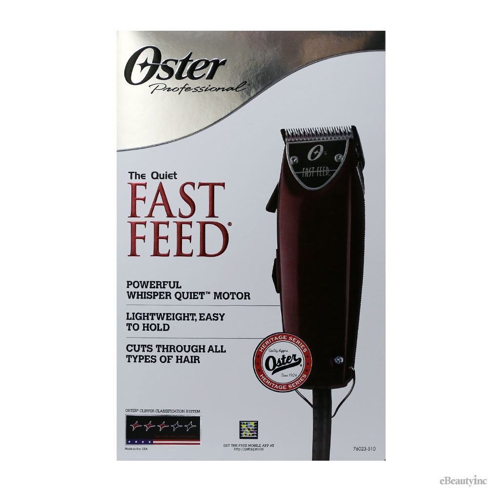 Oster Fast Feed Hair Clipper with 4 Attachment Guide Combs #76023-510