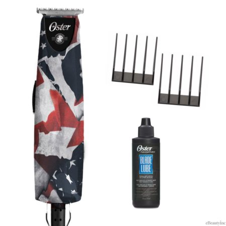 Oster T-Finisher US Flag Operation Homefront T-Blade Hair Trimmer w/ 2pc Combs Oil Set