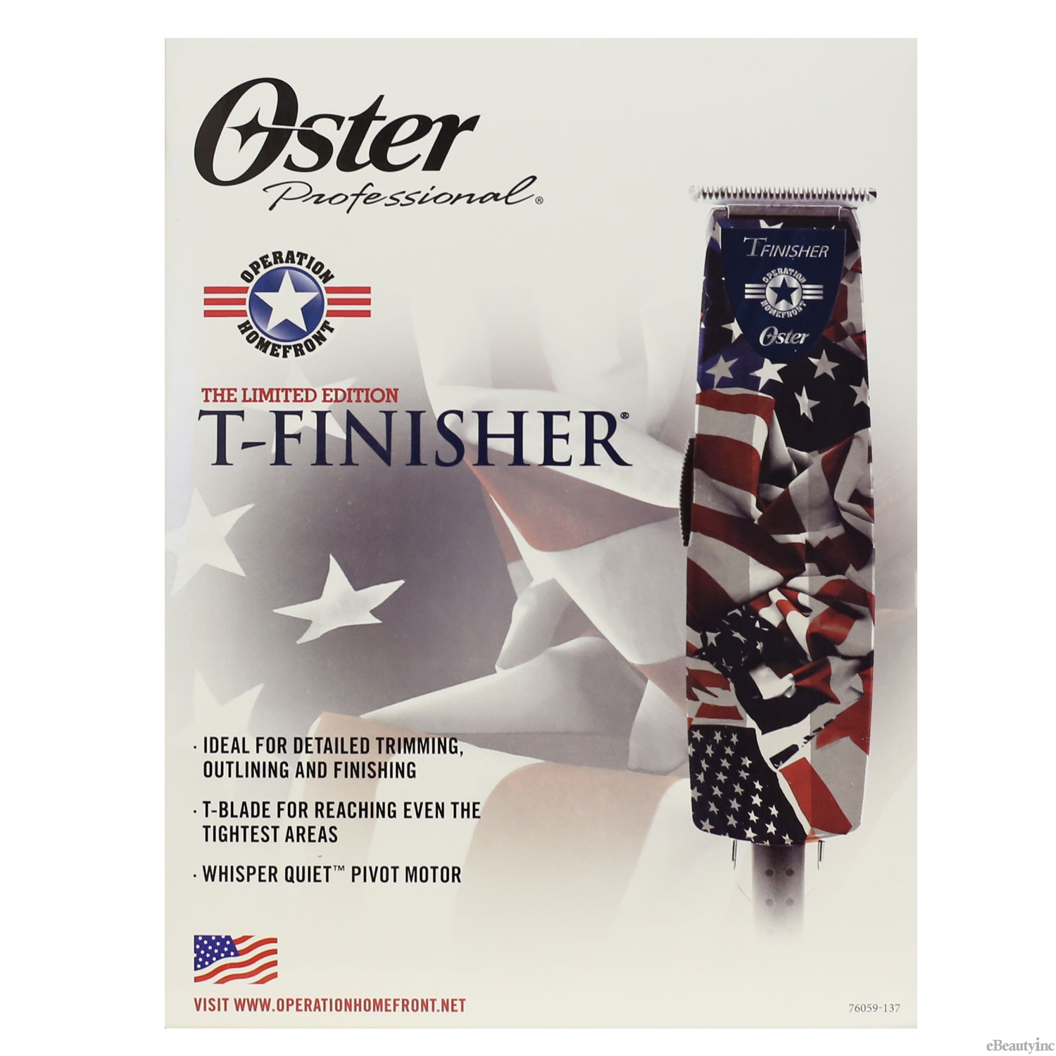 Oster T-Finisher US Flag Operation Homefront T-Blade Hair Trimmer