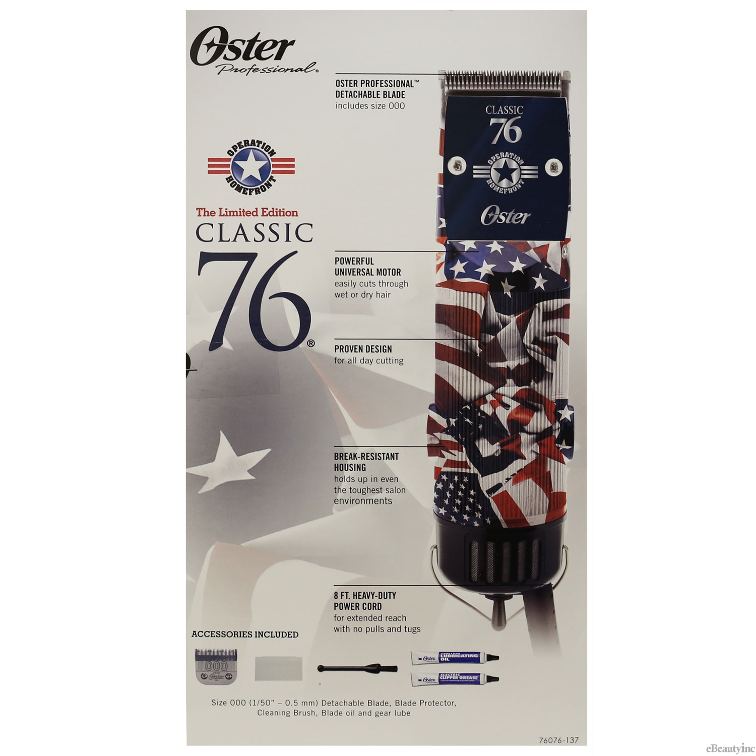 Image of Oster US Flag Operation Homefront Classic 76 Limited Edition Hair Clipper