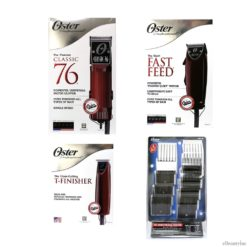 Oster Classic 76 + Fast Feed Clipper + T-Finisher Trimmer w/ 10 Attachment Comb Set