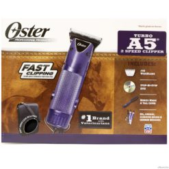 Oster Turbo A5 2-Speed Equine Clipper #10 Wide Blade DVD Comb Oil Grease Brush Kit