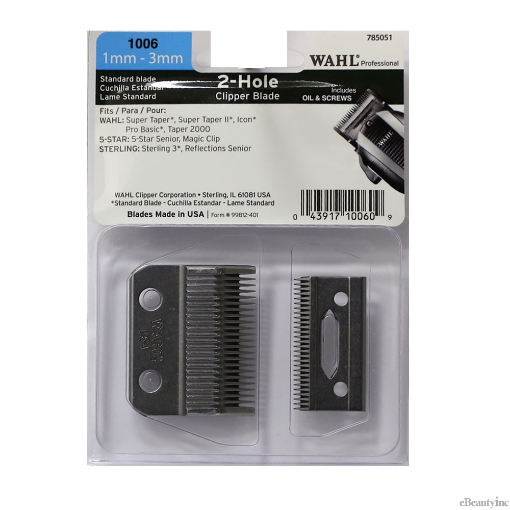 Image of Wahl 2 Hole Replacement Blade for Super Taper Icon Senior Magic #1006