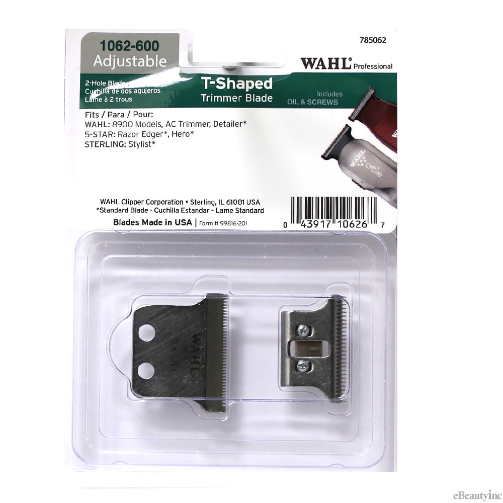 Image of Wahl 2-Hole T-Shaped Replacement Blade for Detailer Razor AC Hero Trimmer #1062-600