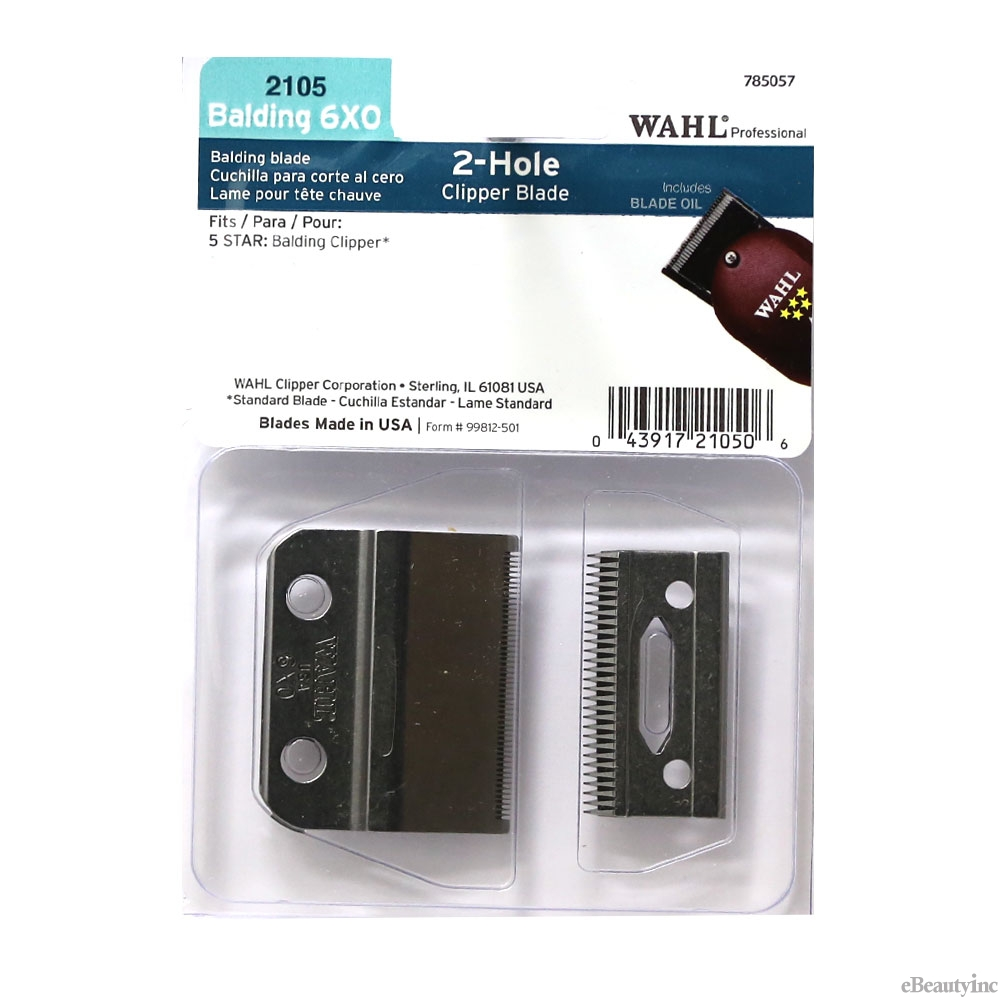 Image of Wahl 2 Hole Replacment Blade for 5-Star Balding Clipper #2105