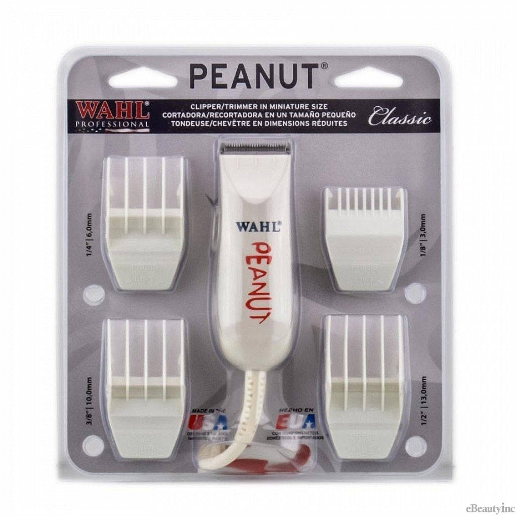 Image of Wahl Peanut Shape White Hair Clipper / Trimmer #8655