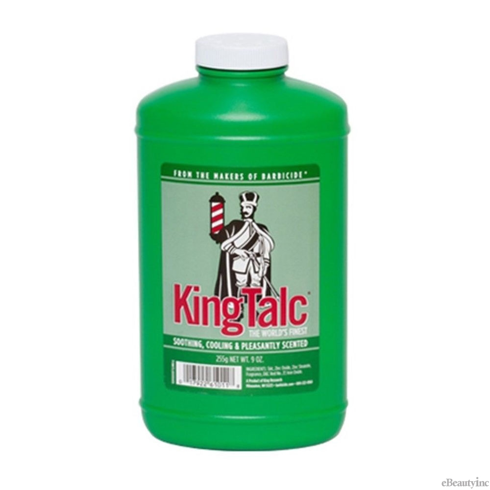 Image of Barbicide King Talc Talcum Soothing Cooling Scented Powder - 9oz