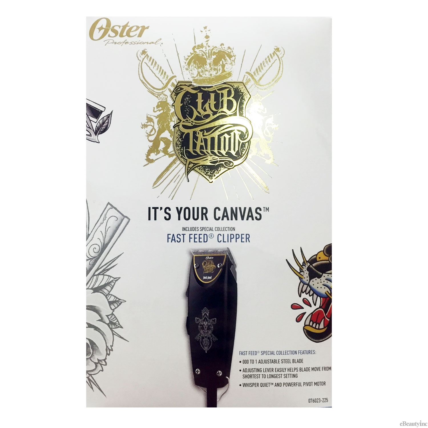 Image of Oster Club Tattoo Fast Feed Limited Edition Hair Clipper #076023-225