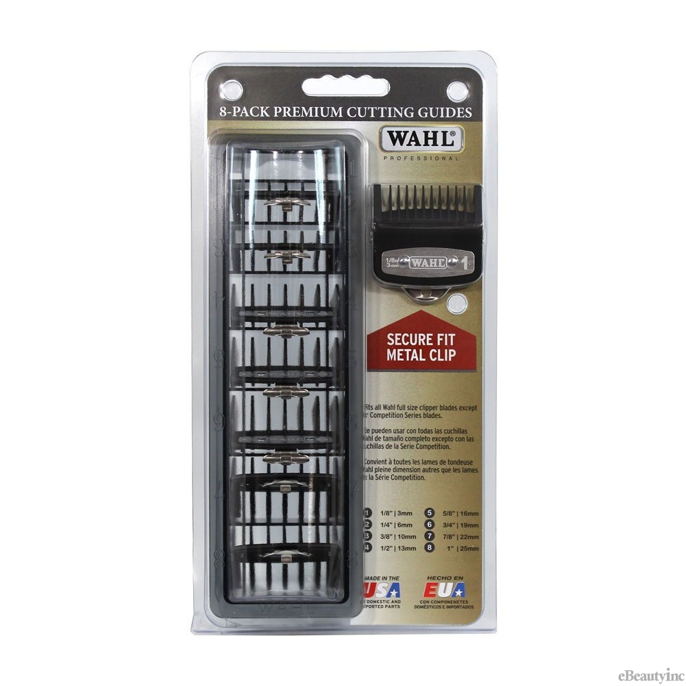 Details about Wahl Professional Cutting Hair Clipper Premium Guides Combs  Guards 700068b9d1