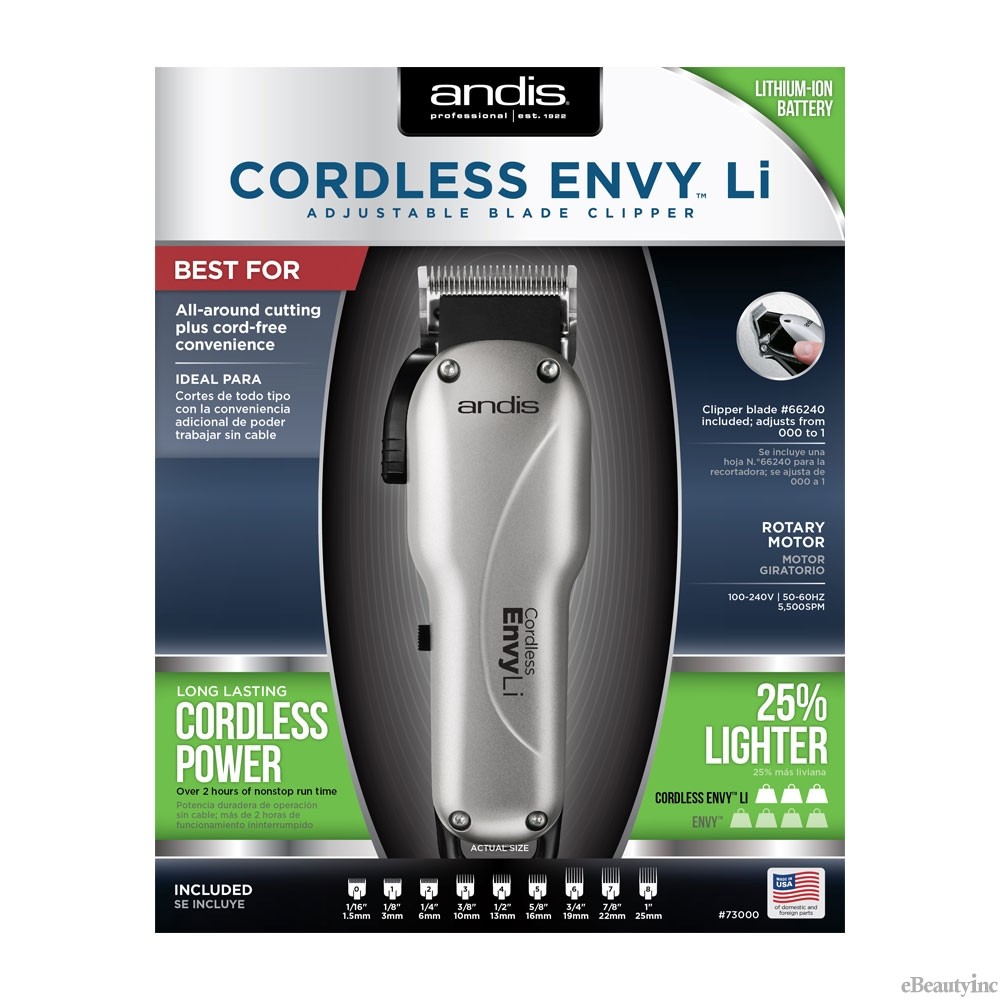 Image of Andis Envy Li Cordless Adjustable Blade Clipper #73000