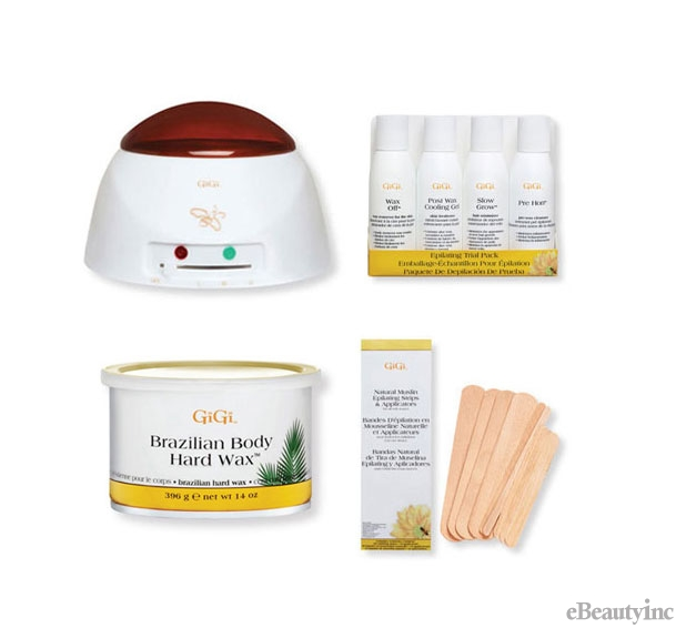 Image of GiGi Pro Brazilian Wax Warmer Hair Removal Combo Kit