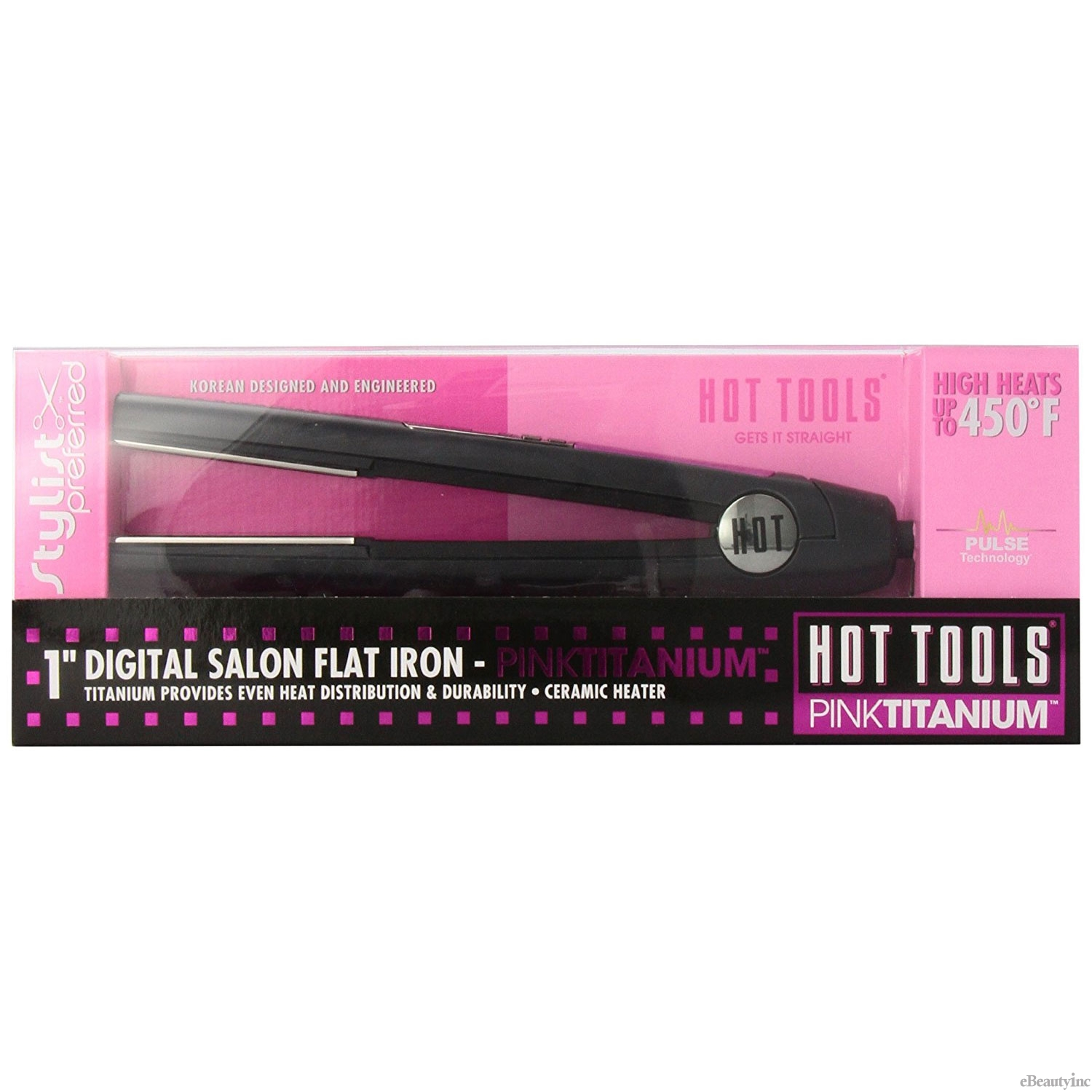 "Image of Hot Tools Digital 1""Salon Flat Iron w/ Auto Shut Off #HPK11"