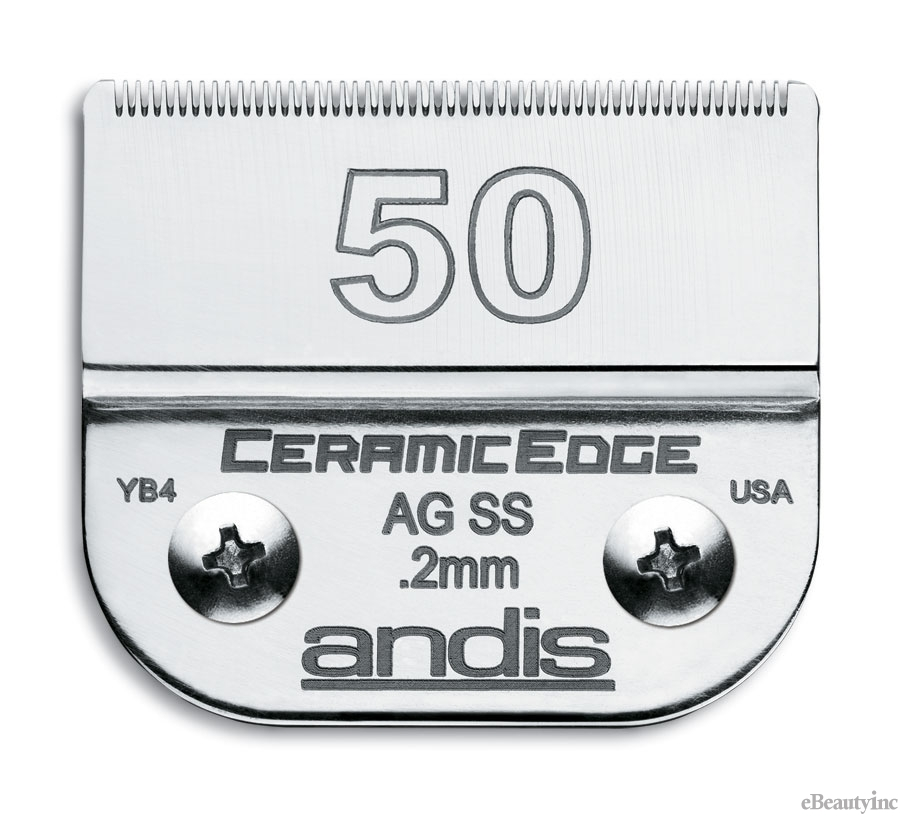 Andis Ceramic Edge Clipper Blade #50 SS Fit Oster 76 A5 - 64355
