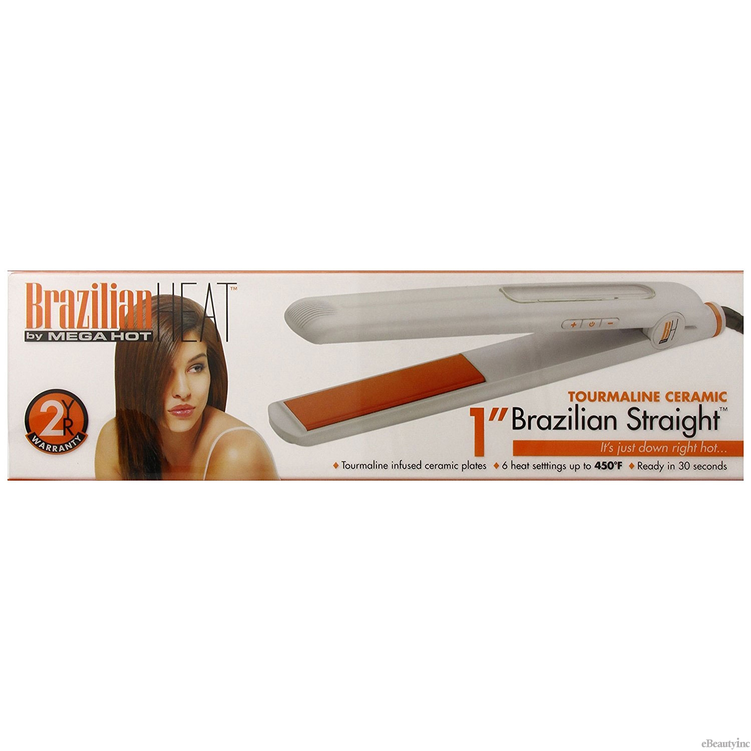 "Image of Belson Brazilian Heat Straight Tourmaline Ceramic 1"" Flat Iron"