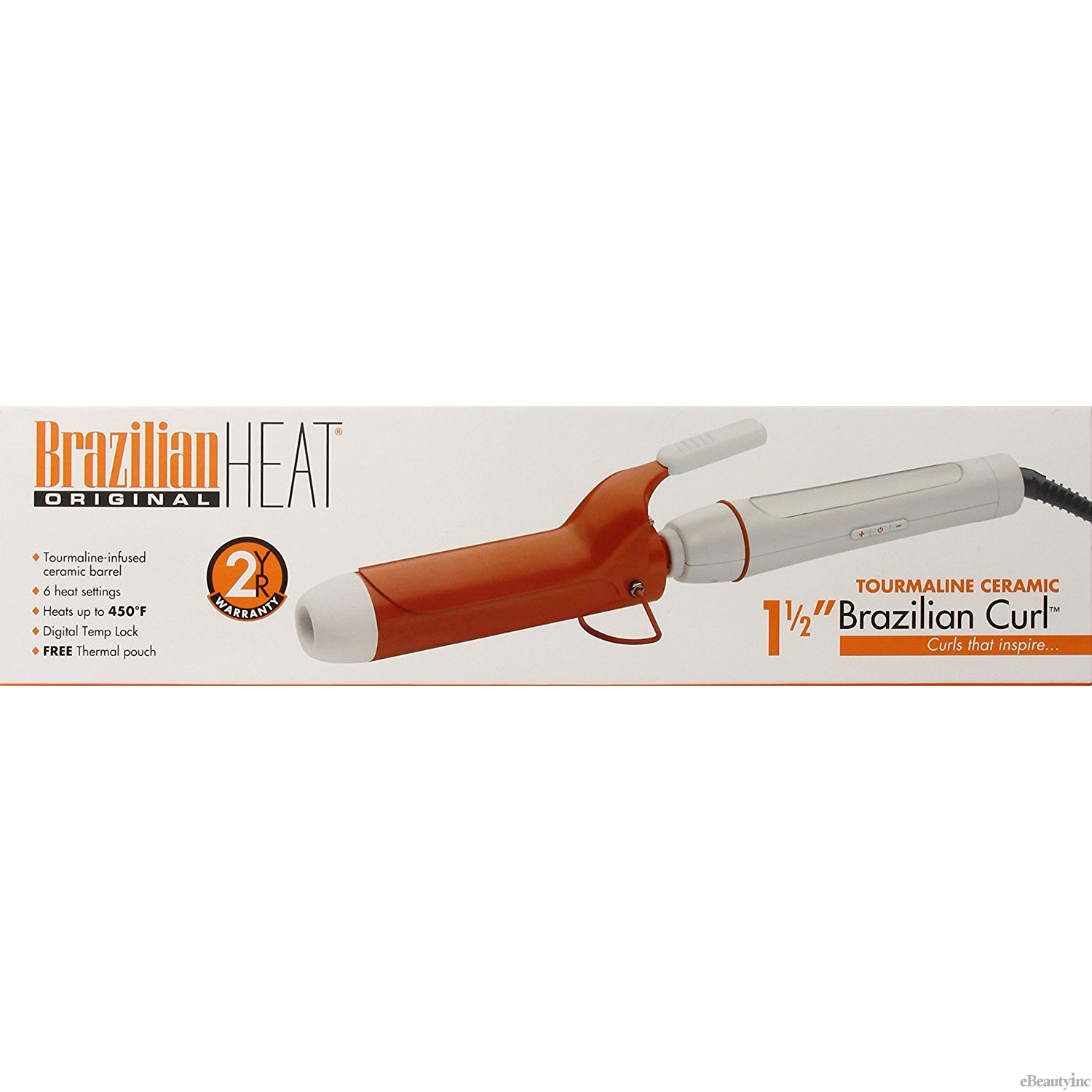"Image of Belson Brazilian Heat Tourmaline Ceramic 1-1/2"" Spring Curling Iron"