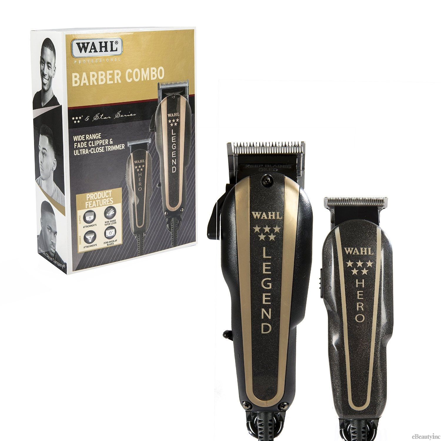 Image of Wahl 5-Star Barber Combo Legend Clipper and Hero Trimmer #8180