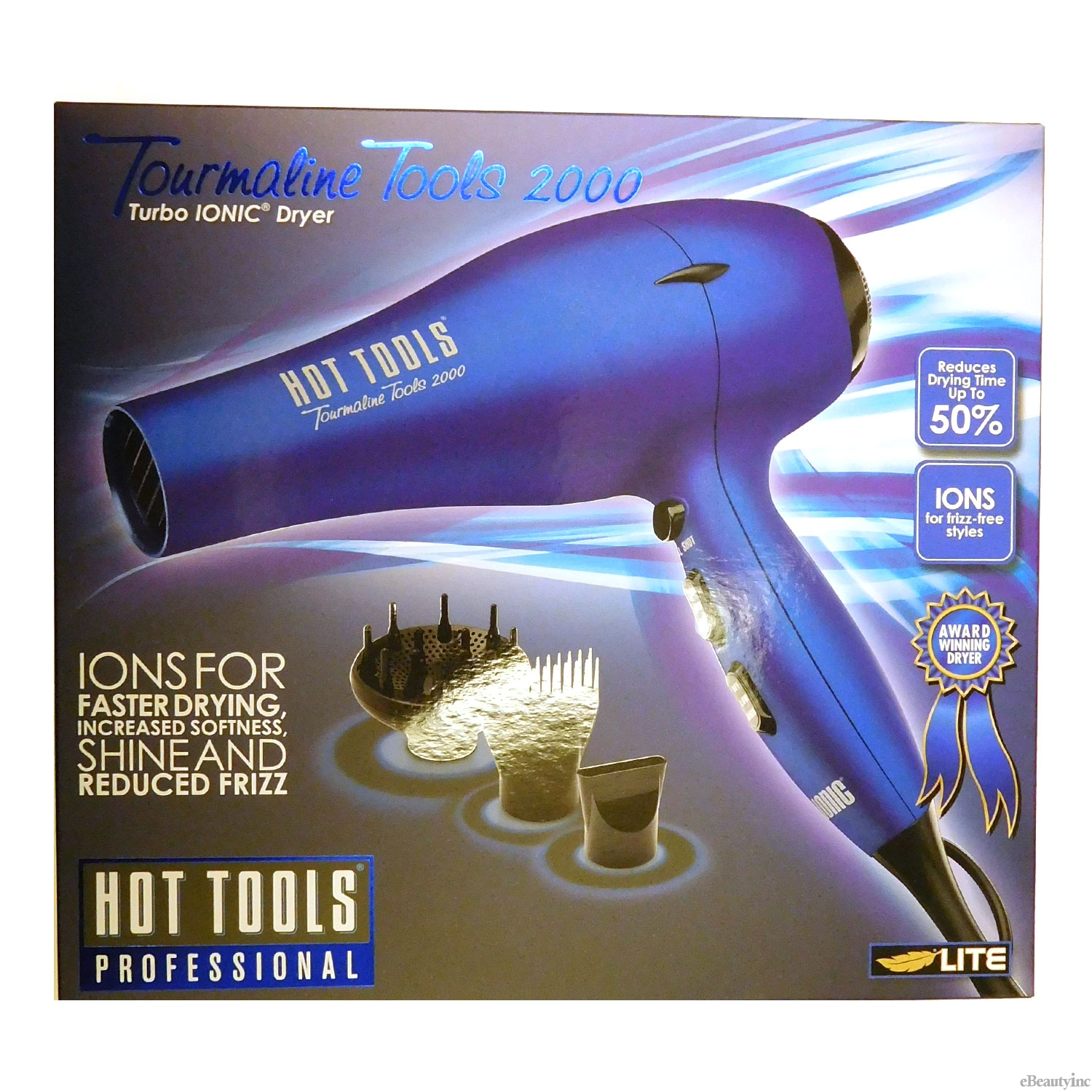 Image of Hot Tools Blue Tourmaline Tools 2000 Turbo Ionic Dryer #1043BL
