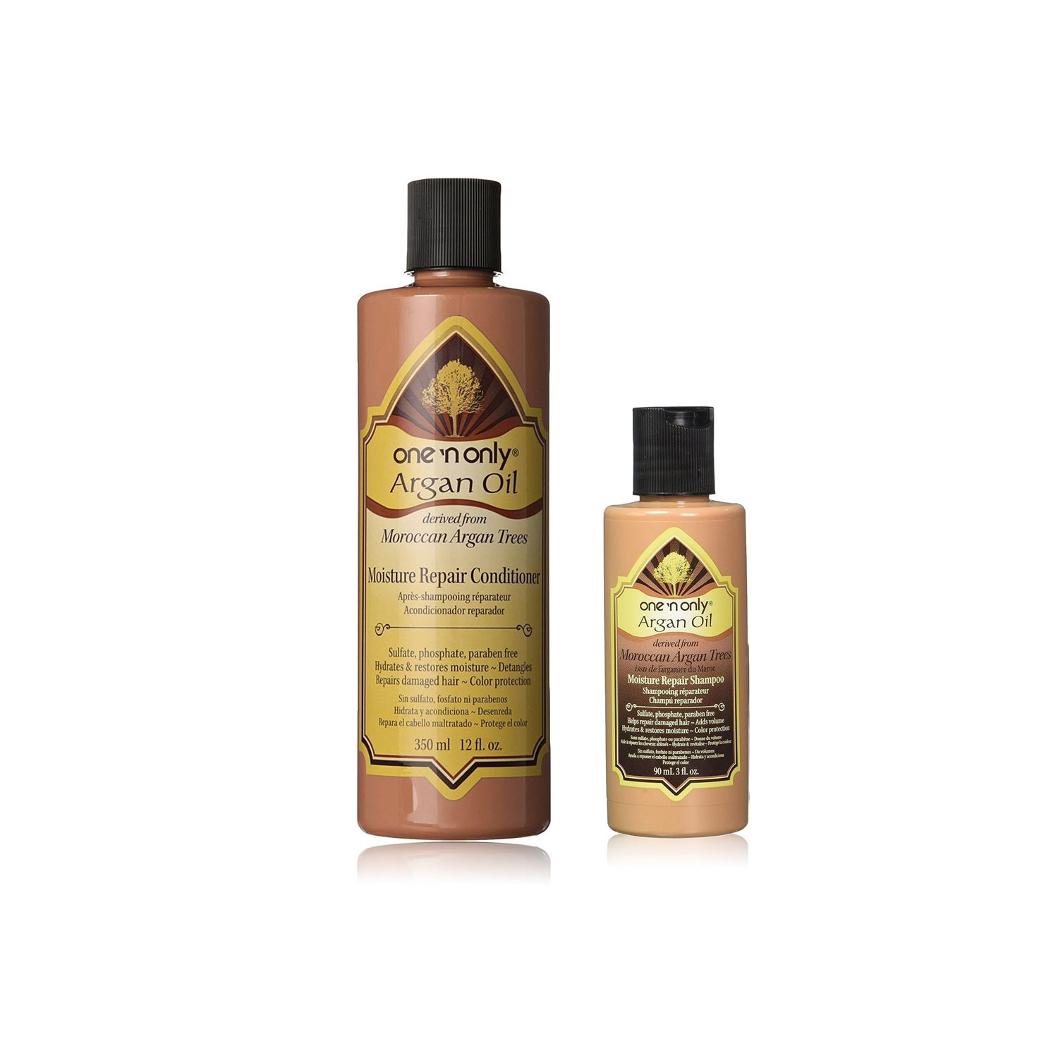 Image of One n Only Argan Oil Moisture Repair Conditioner 12oz & Shampoo 3oz