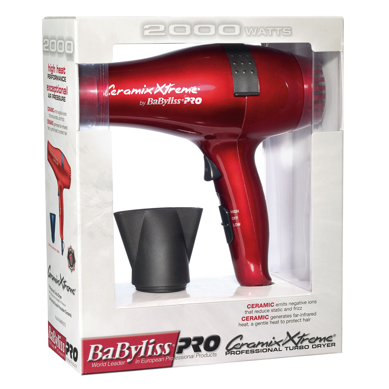Image of BaByliss Pro Ceramix Xtreme RED Dryer #BABR5572