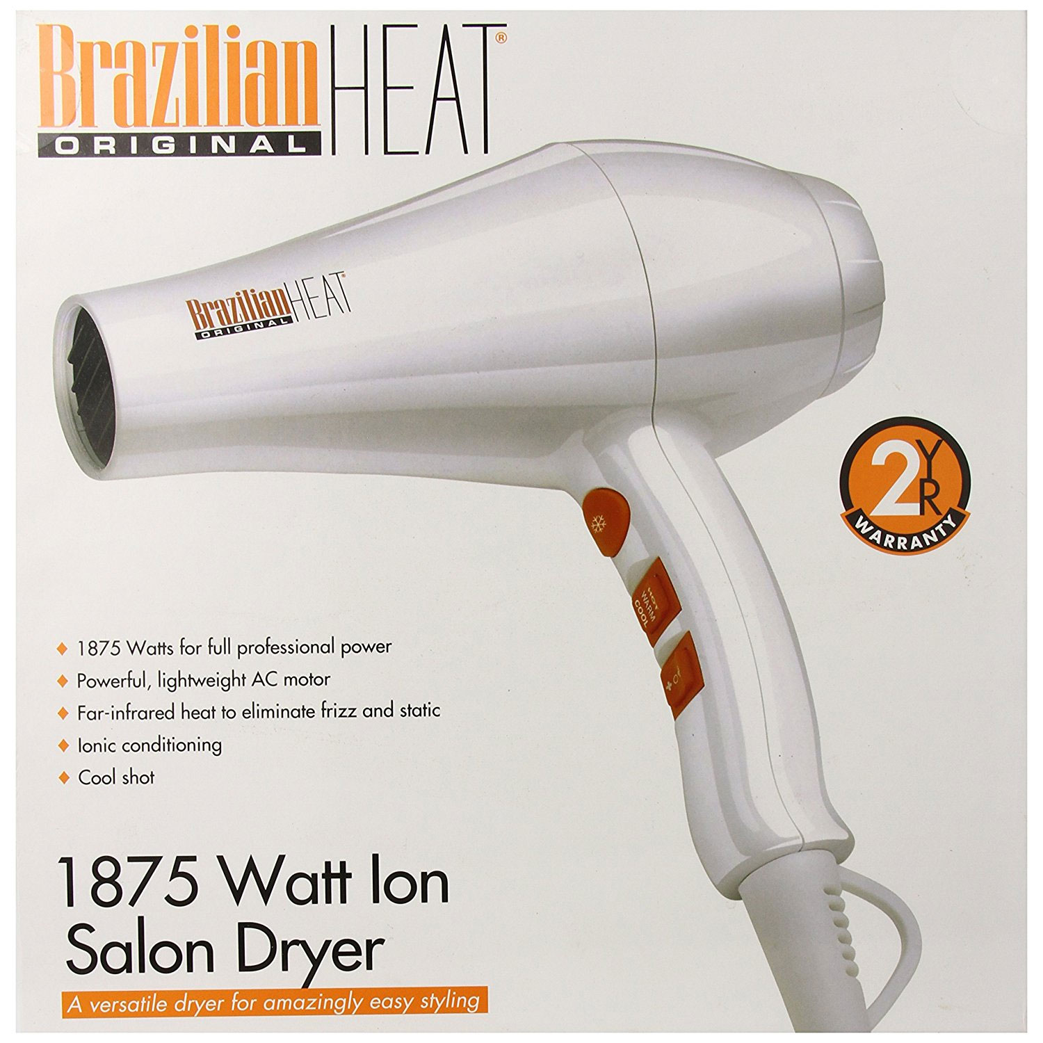 Image of Belson Brazilian Heat 1875W Ceramic Ionic Hair Dryer #BBH3203