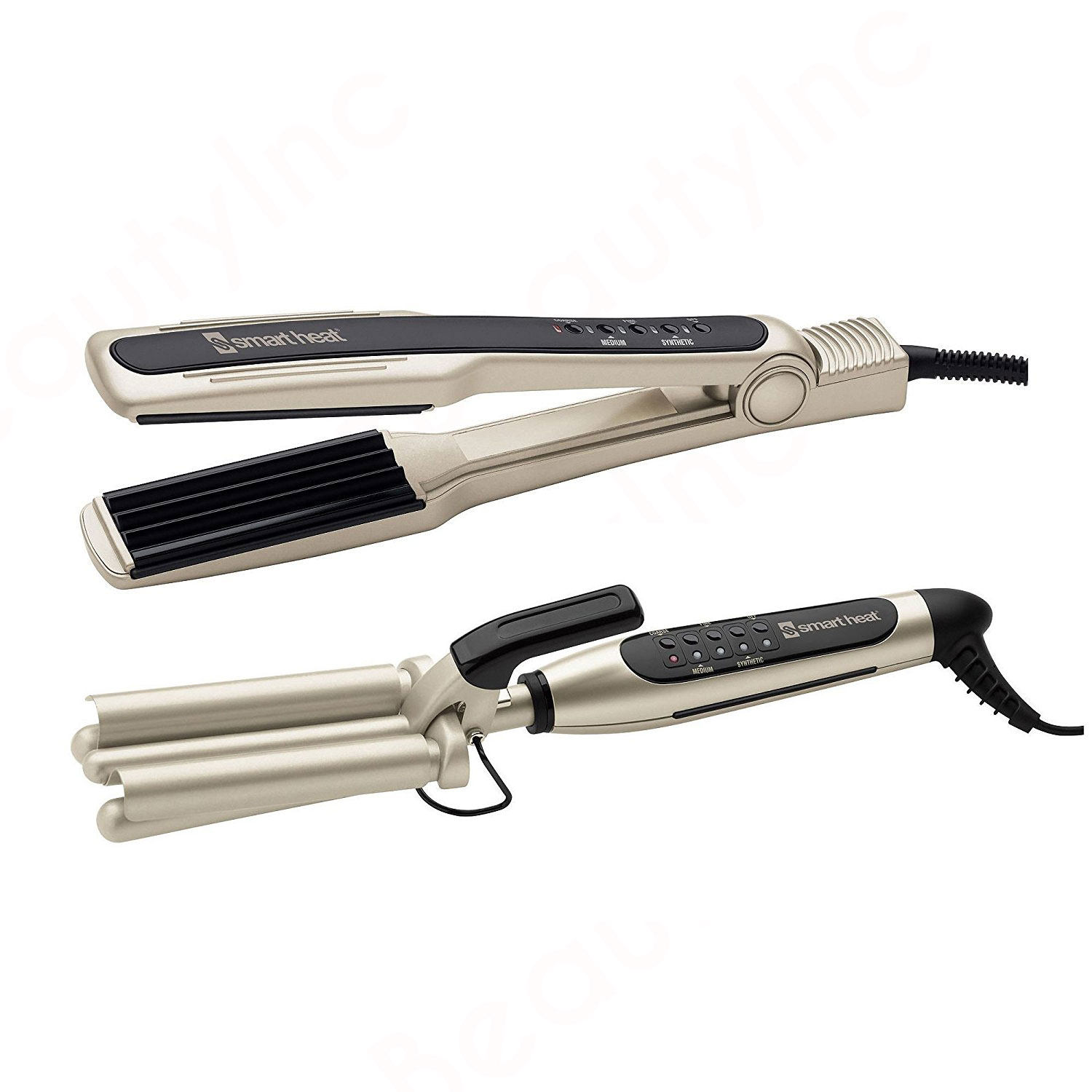 Image of Belson Pro Smart Heat Triple Barrel Waver Crimping Iron Set