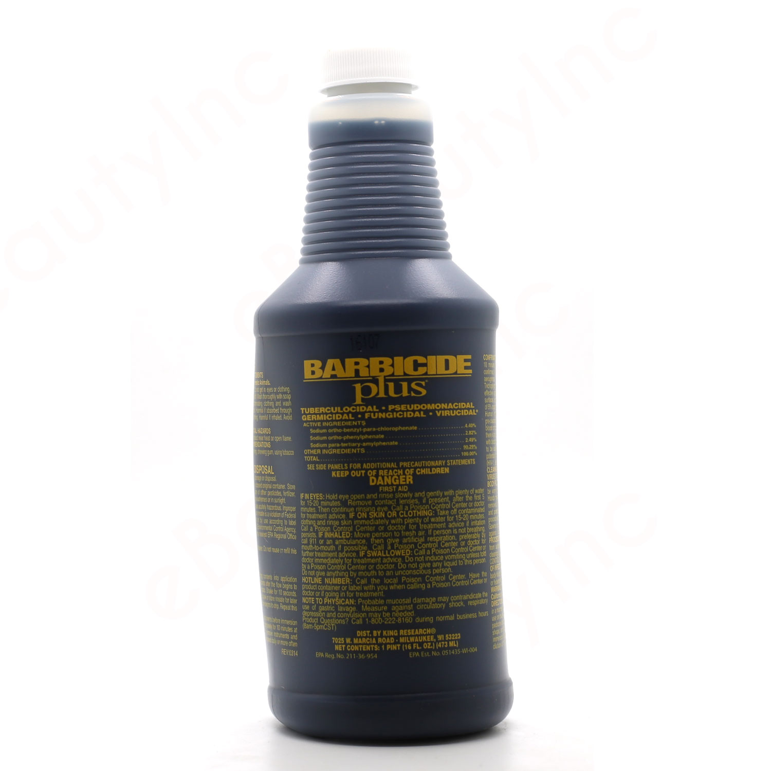 Image of Barbicide Plus Disinfectant Concentrate - 16oz