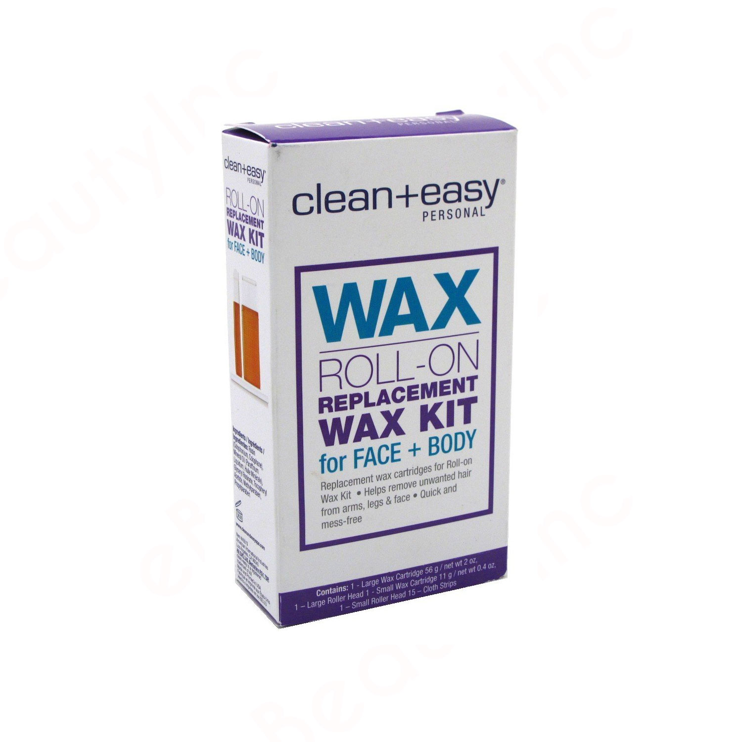 Image of Clean+Easy Wax Roll-On Replacement Wax Kit Face & Body