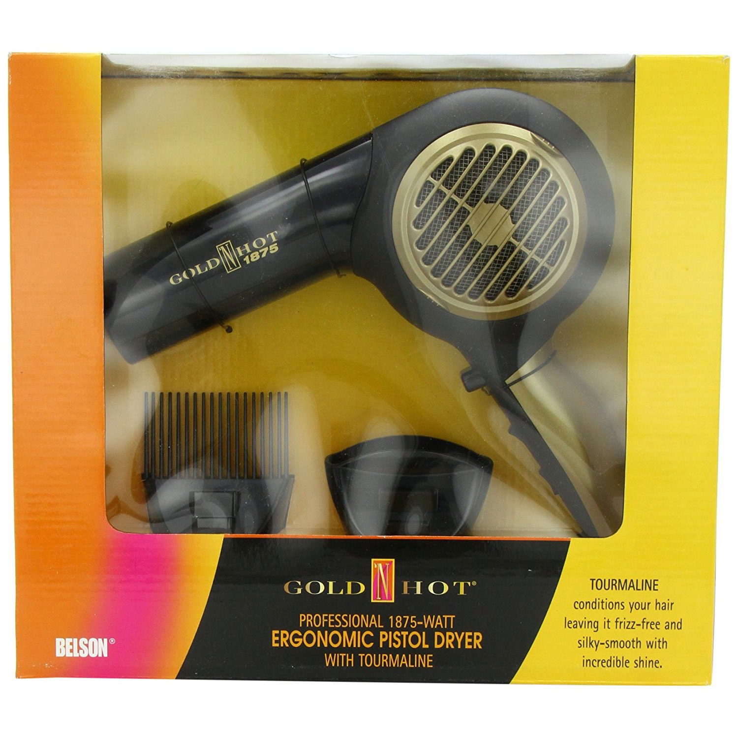 Image of Gold N Hot 1875 Watt Ergonomic Pistol Dryer #GH2260