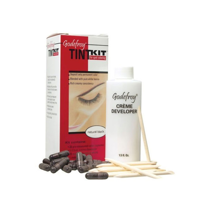 Image of Godefroy Natural Black Tint Kit For Spot Coloring 20 Applications