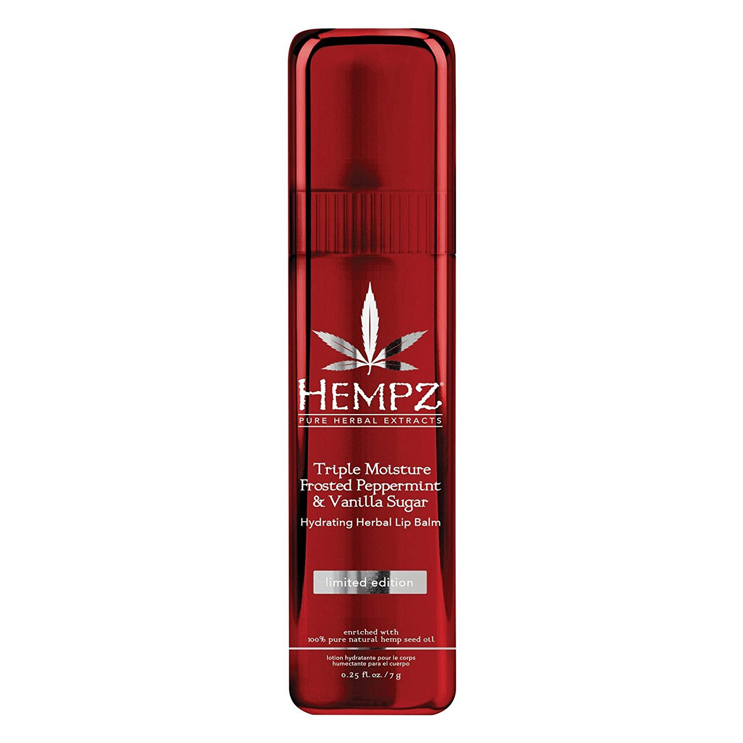 Image of Hempz Frosted Peppermint & Vanilla Sugar Herbal Lip Balm