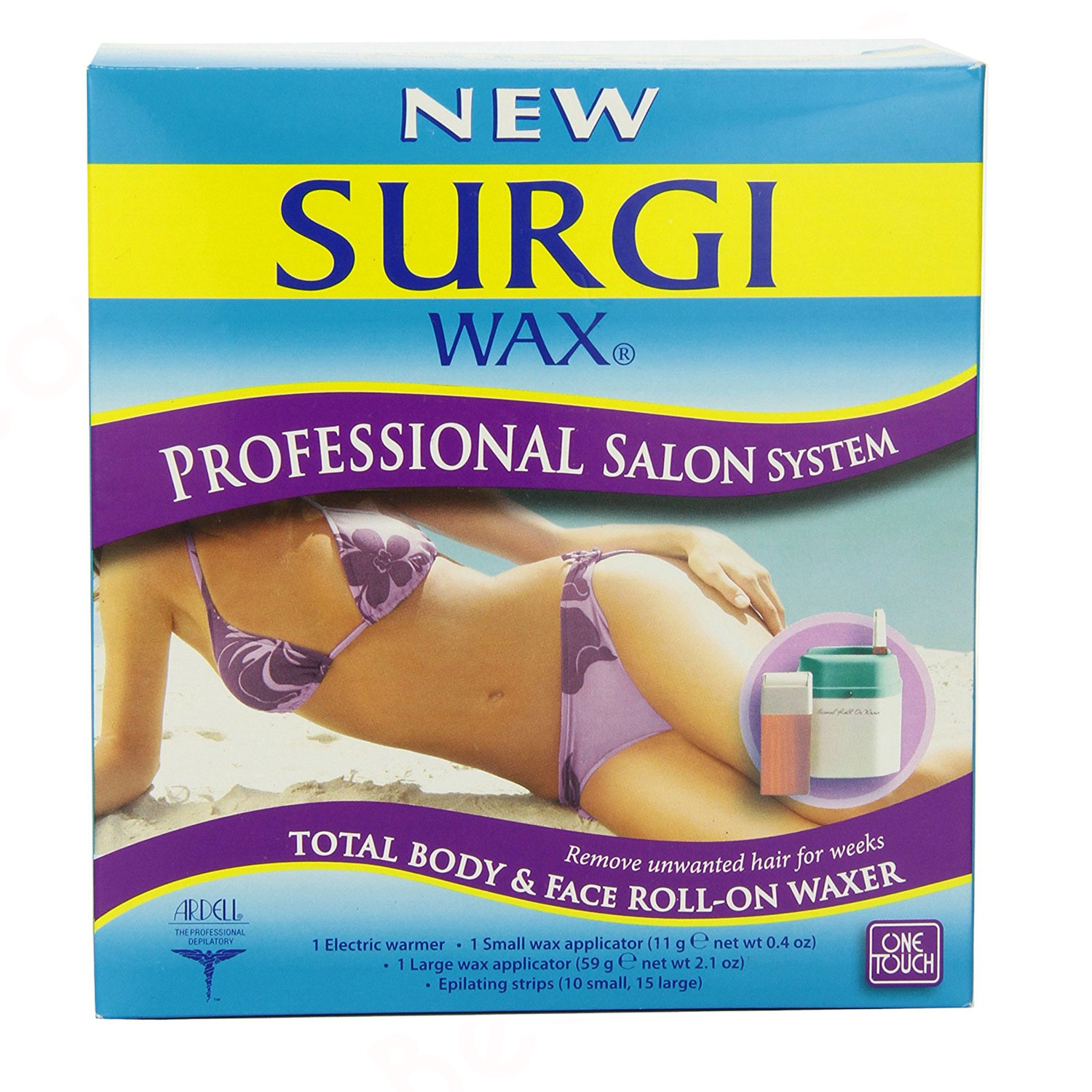 Image of Surgi-wax Professional Salon System Total Body & Face Roll-on Waxer